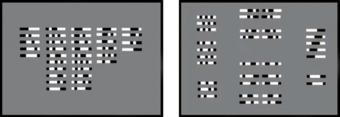 Figure 1: (1a.) Sequential-digital: Reading the individual strips left to right (from [6]); and (1b.) Figural-holistic: Seeing the individual strips as wholes or as gestalten (from [6])