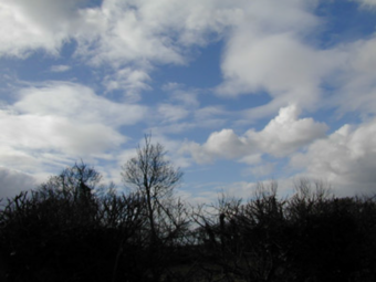 Figure 25: Clouds and the sky between them, as they appear in nature