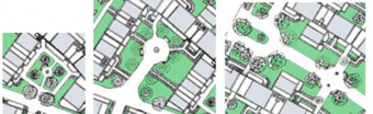 Figure 39: Different gardens in the project, each with its unique character and atmosphere