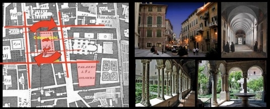 Figure 3. The pedestrian networks of medieval Rome have a fractal structure