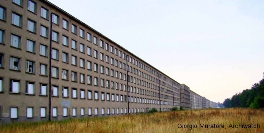 The Prora building on the island of Rügen, Germany was built, 1936-1939, by Clemens Klotz, one of Adolf Hitler's architects. Now largely abandoned.